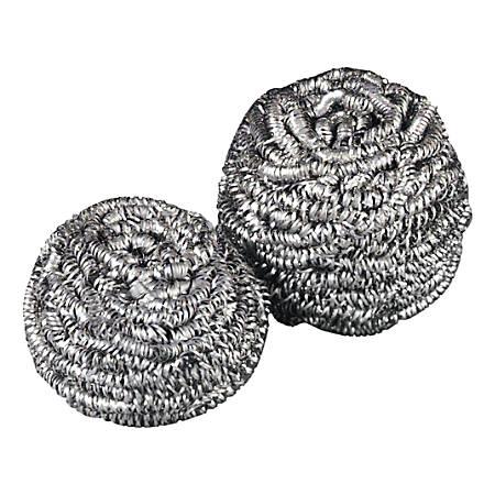 Scotch-Brite™ Stainless Steel Scrubber, No. 83, 1.25 Oz, Silver, 12 Per Box, Case Of 6 Boxes