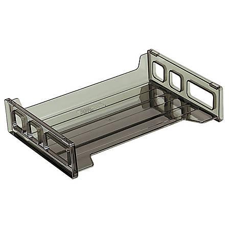 """OIC® Desk Tray, 2 3/4""""H x 13 3/16""""W x 9""""D, Smoke"""