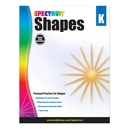 Spectrum Shapes Workbook, Grade K