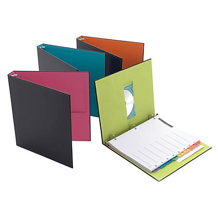 """Fashion Binder, 8 1/2"""" x 11"""", 1"""" Rings, Assorted Colors"""