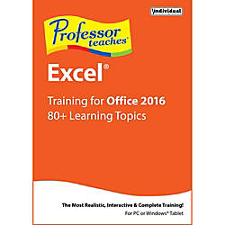 Professor Teaches Excel 2016 Download Version