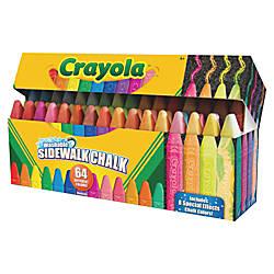 Crayola Washable Sidewalk Chalk Assorted 64