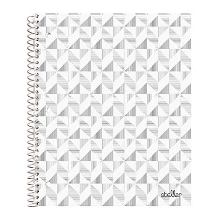 """Office Depot® Brand Stellar Notebook, 9"""" x 11"""", College Ruled, 160 Pages (80 Sheets), Chevron"""