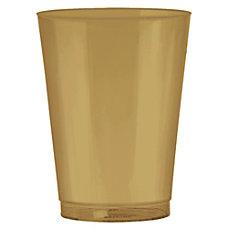 Amscan Plastic Tumblers 10 Oz Gold