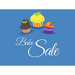 Customizable Yard Sign Bake Sale Blue