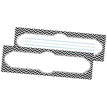 "Barker Creek Single-Sided Desk Tags/Bulletin Board Signs, 12"" x 3 1/2"", Black Tie, Pre-K To Grade 6, Pack Of 36"