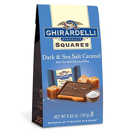 Ghirardelli® Premium Dark Chocolate, Caramel And Sea Salt Squares, 5.32 Oz Bag