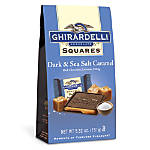 Ghirardelli® Premium Dark Chocolate, Caramel And Sea Salt Squares, 5.32 Oz Bag