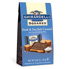 Ghirardelli Premium Dark Chocolate Caramel And