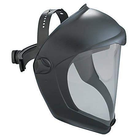 Bionic Face Shields, Hardcoat/Antifog, Clear/Black Matte