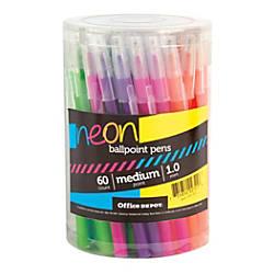 Office Depot Brand Neon Ballpoint Stick