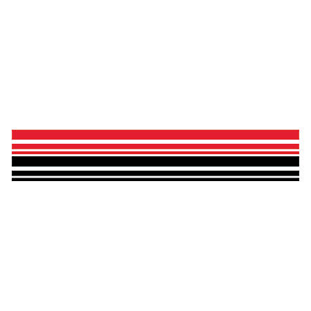 """Barker Creek® Double-Sided Straight-Edge Border Strips, 3"""" x 35"""", Buffalo Plaid & Wide Stripes, Pack of 12"""