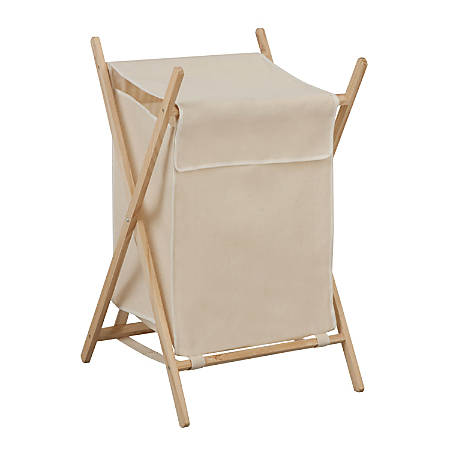 "Honey-Can-Do Folding Laundry Hamper, 27 3/8"", Natural"