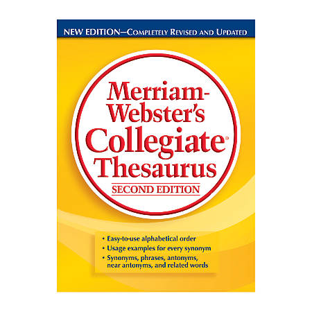 Merriam-Webster's Collegiate Thesaurus 2nd Edition