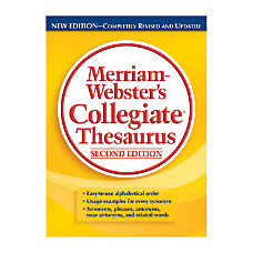 Merriam Websters Collegiate Thesaurus 2nd Edition
