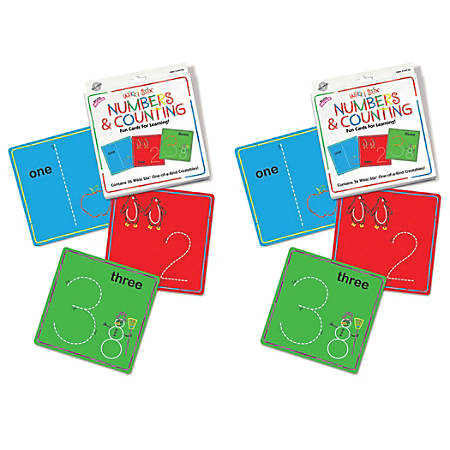 Wikki Stix Numbers And Counting Cards Sets, Pack Of 2 Sets