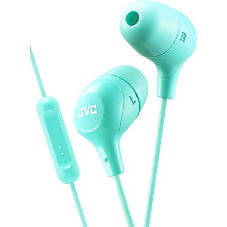 JVC Marshmallow HA-FX38MG Earset - Stereo - Wired - Earbud - Binaural - In-ear - 3.28 ft Cable - Green