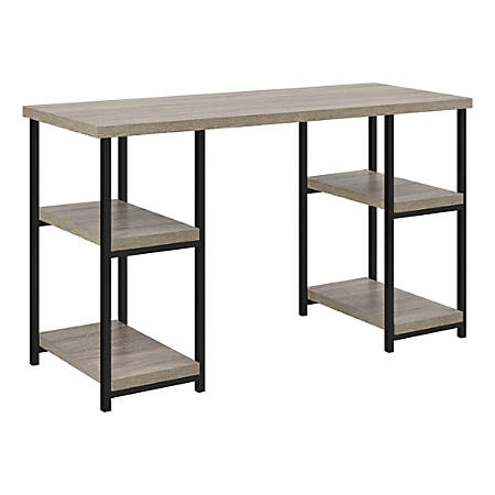 Ameriwood™ Home Elmwood Double-Pedestal Desk, Distressed Gray Oak