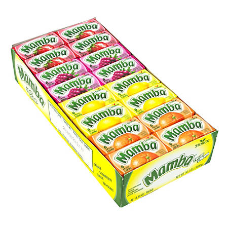 Mamba Fruit Chews, 6 Pieces Per Bar, Box Of 48 Bars