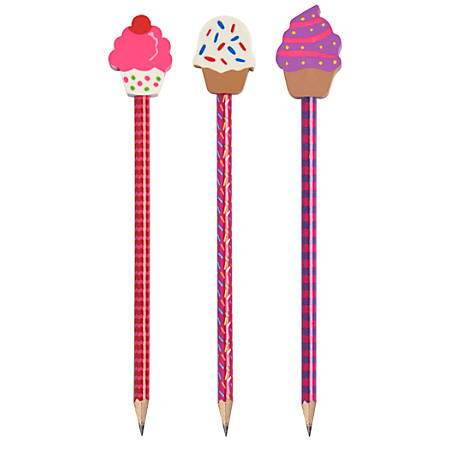 Office Depot® Brand Pencil Topper, Ice Cream, Assorted Shapes/Colors
