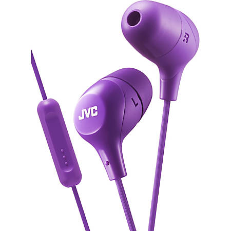 JVC Marshmallow HA-FX38MV Earset - Stereo - Wired - Earbud - Binaural - In-ear - 3.28 ft Cable - Violet