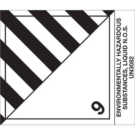 "Tape Logic® Preprinted Shipping Labels, DL518P2, Environmentally Hazardous Substances, Liquid, Square, 4"" x 4 3/4"", Black/White, Roll Of 500"