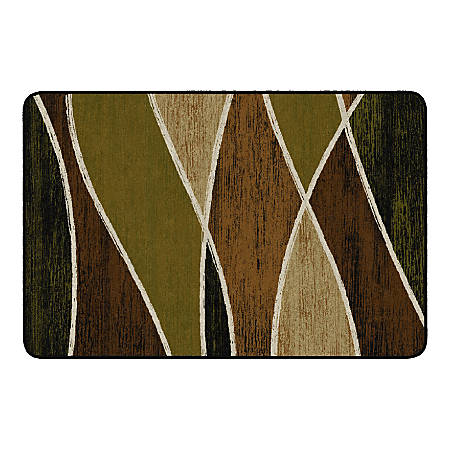 "Flagship Carpets Waterford Rectangular Area Rug, 48"" x 72"", Green"