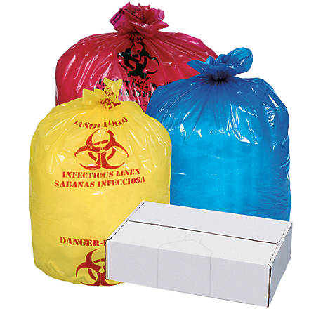 "Pitt Plastics Linear Low Isolation Liners, 1.2-mil, 30 1/2"" x 43"", Blue, Box Of 100"