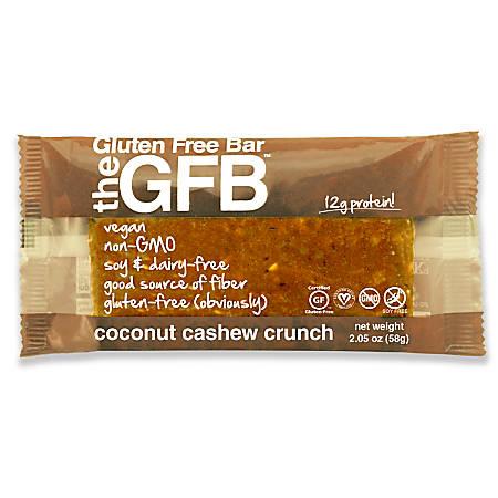 The Gluten-Free Bar, Coconut Cashew Crunch, 2.05 Oz, Pack Of 12