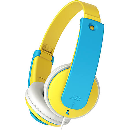 JVC Kids HA-KD7Y Headphone - Stereo - Yellow - Wired - Over-the-head - Binaural - Circumaural - 2.62 ft Cable