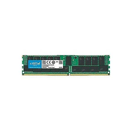 Crucial 32GB (1 x 32 GB) DDR4 SDRAM Memory Module - 32 GB (1 x 32 GB) - DDR4-2666/PC4-21300 DDR4 SDRAM - CL19 - 1.20 V - ECC - Registered - 288-pin - DIMM