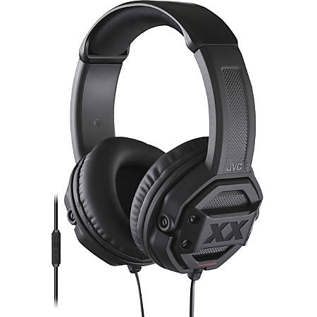JVC Xtreme Xplosives XX HA-MR60X Headset - Stereo - Wired - Over-the-head - Binaural - Circumaural - 3.94 ft Cable - Black