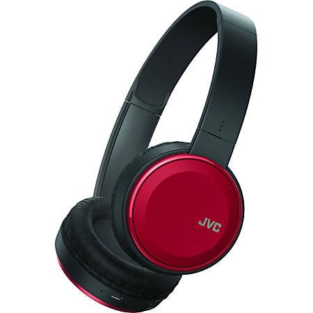 JVC HA-S190BT Headset - Stereo - Wired/Wireless - Bluetooth - Over-the-head - Binaural - Circumaural - Red