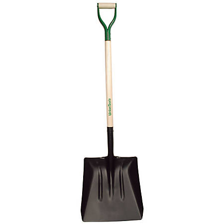 "UnionTools Street Shovel with White Ash D-Handle, 14-1/2"" W Blade"