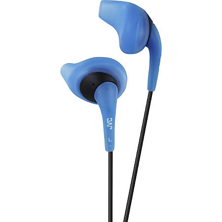 JVC Gumy HA-EN10-A Earphone - Stereo - Blue - Wired - Earbud - Binaural - In-ear - 3.28 ft Cable