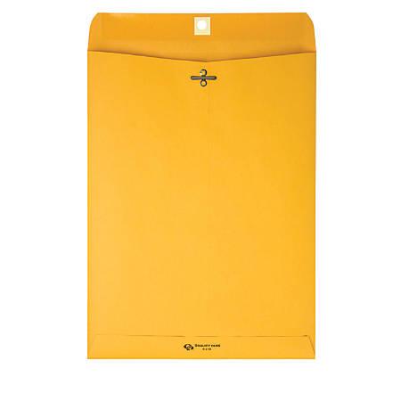 "Quality Park® Clasp Envelopes, 6"" x 9"", Brown, Box Of 100"