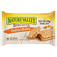 NATURE VALLEY Flavored Biscuits Peanut Butter