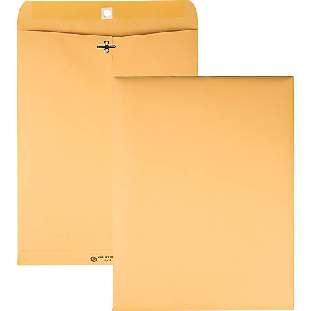 "Quality Park® Clasp Envelopes, 10"" x 13"", Brown, Box Of 100"