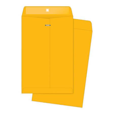 "Quality Park® Clasp Envelopes, 11 1/2"" x 14 1/2"", Brown, Box Of 100"