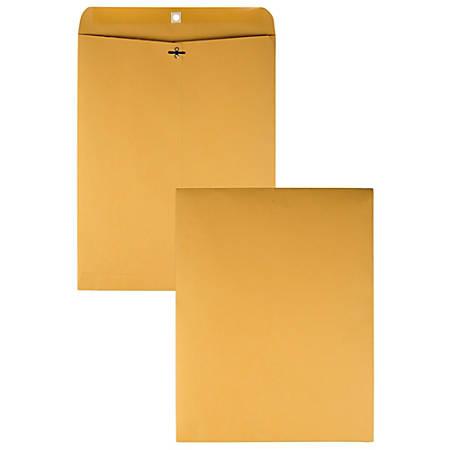 "Quality Park® Clasp Envelopes, 12"" x 15 1/2"", Brown, Box Of 100"