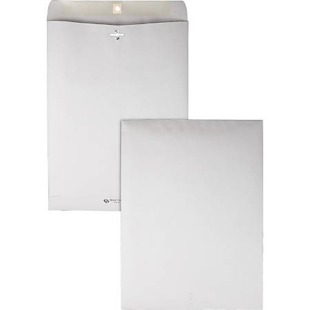 "Quality Park® Clasp Envelopes, 10"" x 13"", Gray, Box Of 100"
