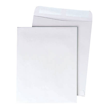"Quality Park® Catalog Envelopes With Gummed Closure, 9"" x 12"", White, Box Of 250"