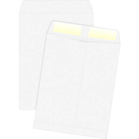 "Quality Park White Plain Catalog Envelopes - Catalog - #13 1/2 - 10"" Width x 13"" Length - 24 lb - Gummed - Wove - 250 / Box - White"