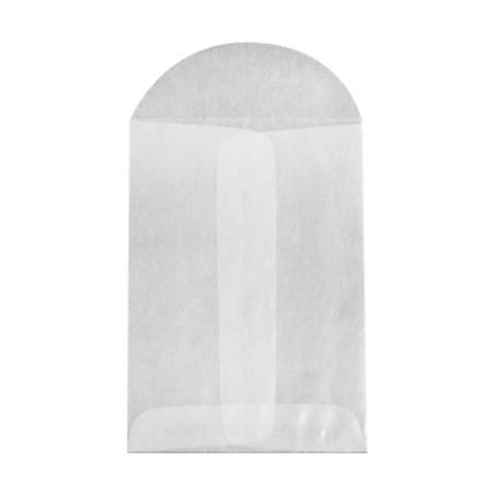"""LUX Open-End Envelopes With Flap Closure, 3"""" x 4 1/2"""", Glassine, Pack Of 50"""