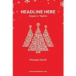 Custom Floor Decal Vertical Red Christmas
