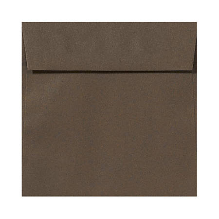 """LUX Square Envelopes With Peel & Press Closure, 6 1/2"""" x 6 1/2"""", Chocolate Brown, Pack Of 250"""