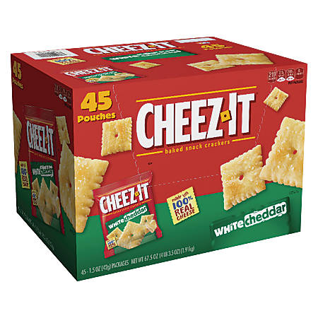 Keebler White Cheddar Cheez-It Crackers, Box Of 45