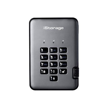 iStorage diskAshur PRO 2 - Solid state drive - encrypted - 1 TB - external (portable) - USB 3.1 - FIPS 197, 256-bit SHA, 256-bit AES-XTS