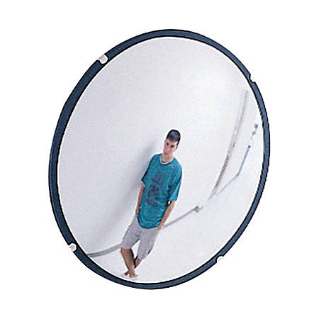 See-All® Round Glass Convex Mirror, 12""