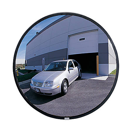 See-All® Round Glass Convex Mirror, 26""